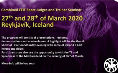 Combined FEIF Sport Judges and Trainer Seminar 2020