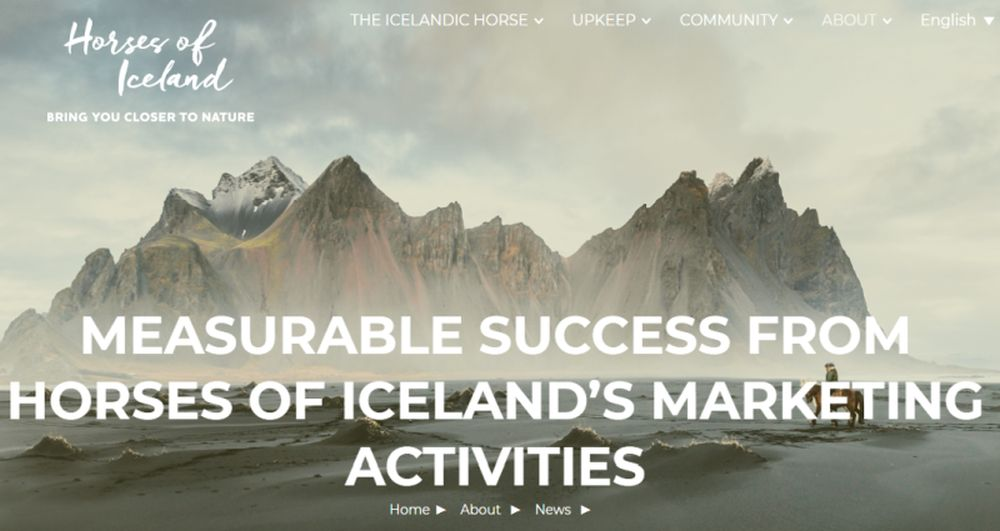 Horses of Iceland's successful marketing activities