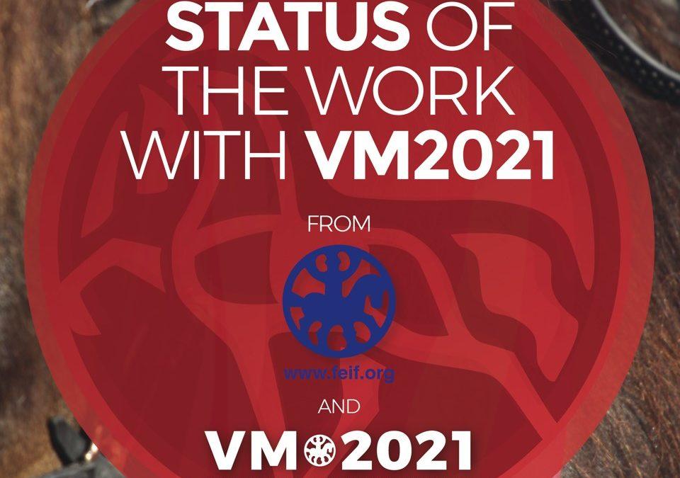 World Championships 2021 – status of work